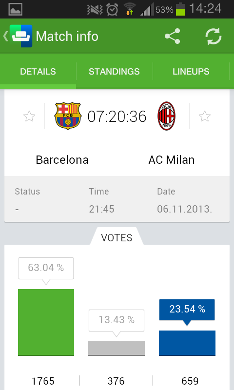 SofaScore for Android