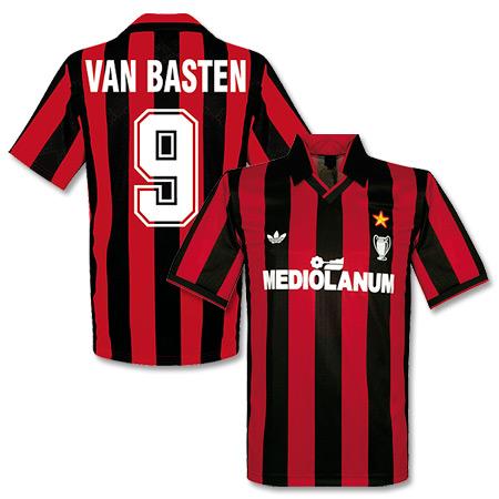 Adidas Originals 90-91 AC Milan Cup Winners Shirt Van Basten 9